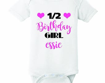 Half Birthday Onesie personalized
