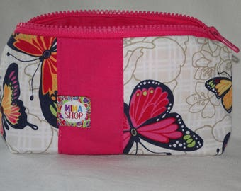 Butterflies design, small clutch