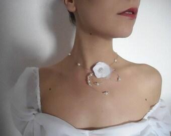 """Wedding, unique creation """"Anouk"""" necklace"""