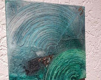 Scrapbooking 3 D Mixing technique 2 er set cm each 20 x 20 cm unique Acrylic abstract