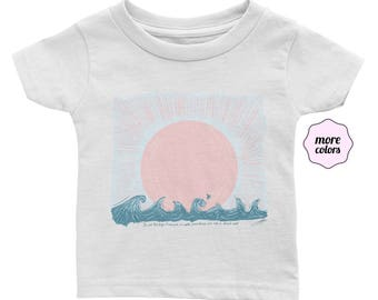 Sail on Distant Seas Infant / Baby Shirt  | Waves Infant Shirt | Beach Baby Shirt Sailing Baby Tee Vacation Infant T-Shirt Sea Baby T-Shirt