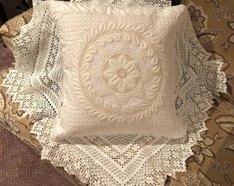 Vintage Quilted Pillow