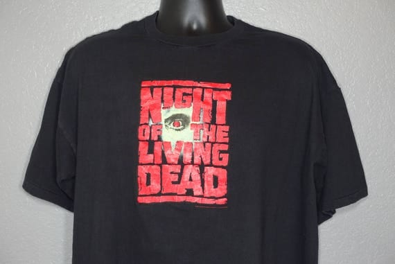 1990 RARE Night of the Living Dead - George A. Romero Cult Zombie Horror Movie - Vintage T-Shirt