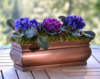 H Potter Window Box Rectangular Succulent Planter Indoor Outdoor Flower Garden