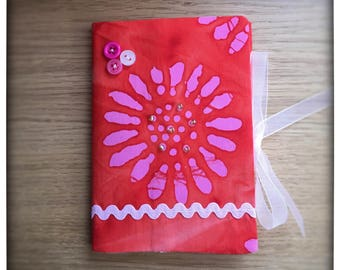 Handmade fabric covered notebook