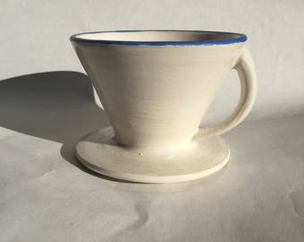 Handmade ceramic coffee dripper/ pour-over/ coffee-maker/ pottery