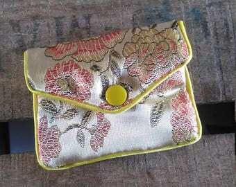 Asian fabric coin purse