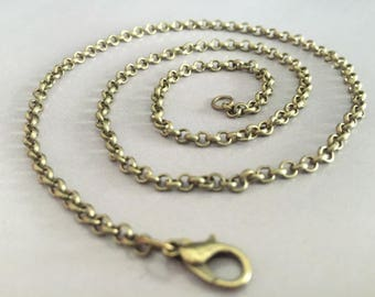 18-30inch---100pieces 3.0mm antique bronze 18-30inch O shape necklace chains