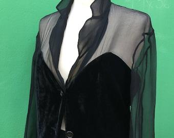 ROMEO GIGLI | Made in Italy | 90s Romeo Gigli Blazer | Vintage Romeo Gigli | Original Vintage Blazer | Vintage Blazer Top Elegant | Velvet Top