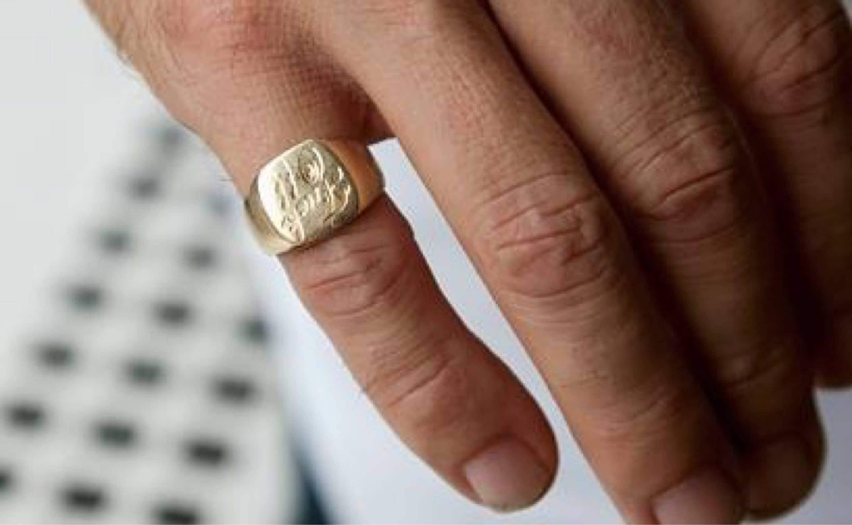 Silver Signet Pinky Ring Fb37 Advancedmassagebysara