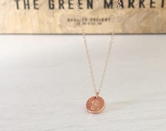 Rose Gold Capital Letter Necklace, Personalised Jewellery, Bridesmaid Necklaces, Wedding Jewellery