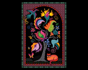 Tree of Life cross stitch/tapestry chart by Vivienne Powers