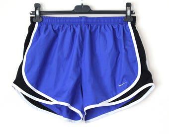 Vintage NIKE Shorts, 90's Nike Running Shorts, Blue Nike Sport Shorts, Nike Workout Shorts, Nike Jogging Tennis Beach Swimming Shorts Size L