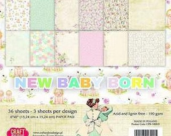 Two pockets AND YOU 30.5 CRAFT paper 12 cm NEW BORN BABY