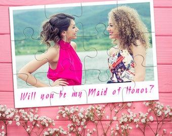Photo Bridesmaid Puzzle, Bridesmaid Photo Gift, Bridesmaid Proposal, Custom Will You Be My Bridesmaid Photo Puzzle, Ask Bridesmaid Proposal