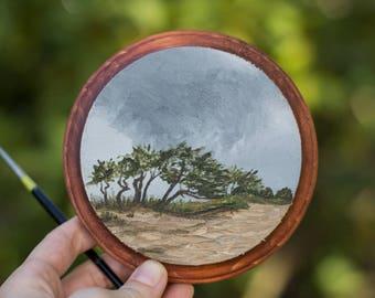 Oil Landscape Painting of Maui Coast - Landscape Painting - Coast Painting - Oil Painting - Painting - Mini Art