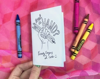 Get Well Mini Coloring Book,  Kids Coloring Pages, Feel Better Colouring Zine for Art Therapy, Adult Coloring.