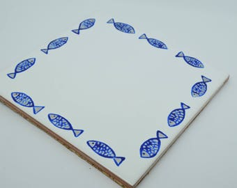 Trivet ceramic painted by hand