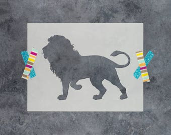 Lion Stencil - Reusable DIY Craft Stencils of a Lion