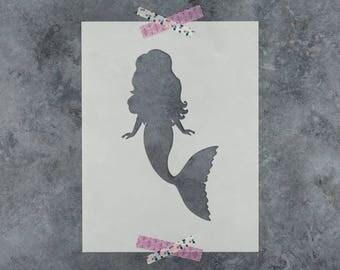 Mermaid Stencil - Reusable DIY Craft Stencils of a Mermaid - Hand Drawn Design!