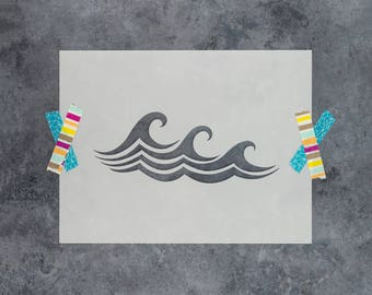 Waves Stencil - Reusable DIY Craft Stencils of Waves