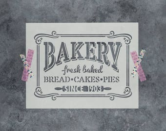 Bakery Stencil - Reusable DIY Craft Stencils of Bakery Sign for Kitchens