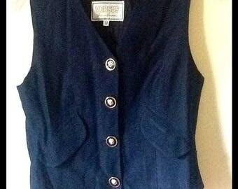 RARE Vintage Versus Versace Vest With Lion Buttons