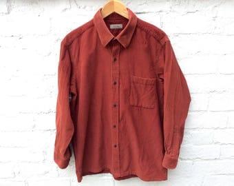 Cord shirt, corduroy blouse, oversized 90's grunge fashion