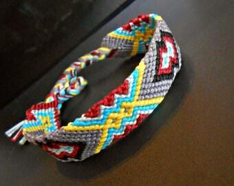 Brazilian 5 color tie bracelet