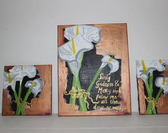 Psalm 23 Canvas Acrylic Painting Wall Home Decor Art Contemporary Interior Design Bible Verse