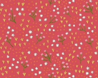 One Yard Cut - High Meadow in Honeysuckle - Meriwether by Amy Gibson for Windham Fabrics -  Quilters Cotton
