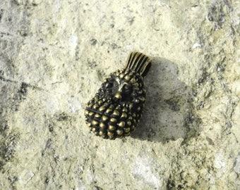 Nice hedgehog pendant, tiny hedgehog necklace, mini hedgehog charm, hedgie baby pet, funny little porcupine, forest animal