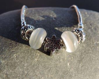 Snow star Charms bracelet