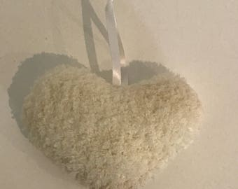 Knitter Hanging Hearts