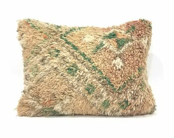 "15""× 20"" Moroccan rug pillow cover"