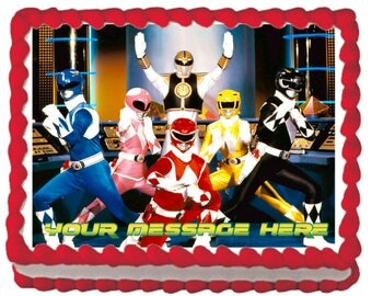 Mighty Morphin Power Rangers Classic Edible Cake Topper
