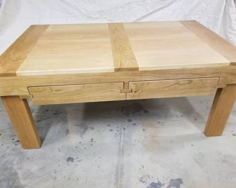 Cherry coffee table w/ slide out drawers