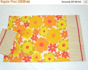 HOT SUMMER SALE 30% off Pair of Funky Handmade Pillowcases