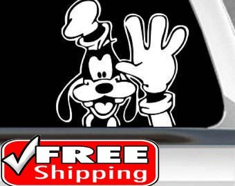 Goofy sticker | FREE SHIPPING |  Goofy waving decal | Goofy decal | Disney decal | Goofy car decal