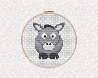 Funny Cross Stitch Pattern, Donkey Cross Stitch, Gift for Him, Funny Gift, Subversive Stitch