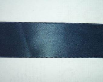 satin ribbon double sided couleurbleu duck 3.5 width 9 cm