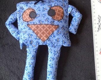 washable blue snowman blanket