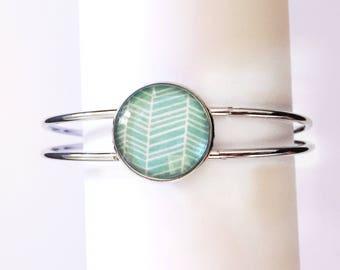 The 'Jessabell' Glass Cuff Bracelet