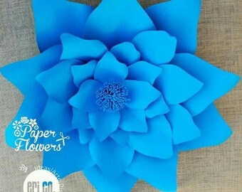 Giant paper flower, template