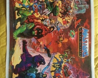 Sale on NOW Motu masters of universe He Man toy Poster Print In A3 #retrogaming please read description
