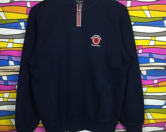 Rare!! MUNSINGWEAR Sweatshirt Small Logo Medium Size Black Colour