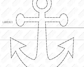 Anchor - String Art Template