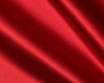 "Red Bridal Satin Fabric 60"" Wide"