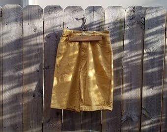 Vintage Rio by Stephen Mardon High Waisted Yellow Denim Shorts