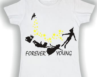T shirt basic donna forever young